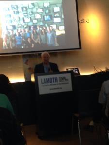 Avraham speaking at LAMOTH on November 23